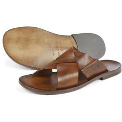 Italian Leather Slip-On Sandals