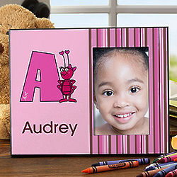 Alphabet Animals Personalized Girl's Picture Frame