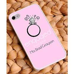 Personalize Pink Engaged iPhone Case