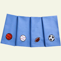 Sports Fan Organic Cotton Napkins for Kids