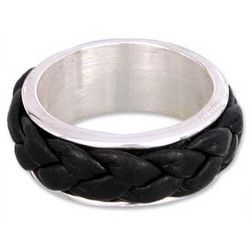 Men's Leather Sierra Ring
