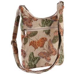 Butterfly Tapestry Cross Body Shoulder Bag