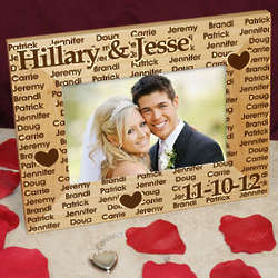 Wedding Personalized Wood Picture Frame