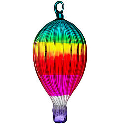 Rainbow Glass Hot Air Balloon