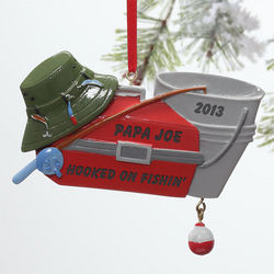 Tackle Box Personalized Fishing Christmas Ornament