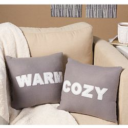 Cozy and Warm Throw Pillow Set