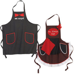 The Right Couple Apron Pair