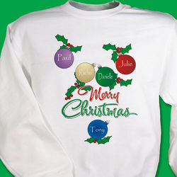 Merry Christmas Ornament Sweatshirt