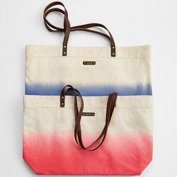 Dip Dye Canvas Tote Bag
