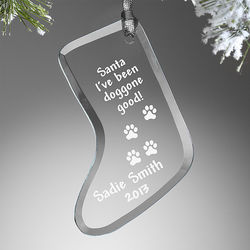 Personalized Pet Christmas Stocking Ornament