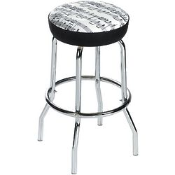 White Sheet Music with Black Notes Bar Stool