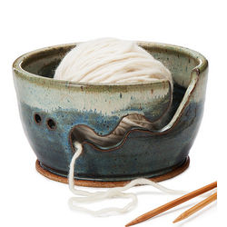 Make Waves Handcrafted Yarn Bowl
