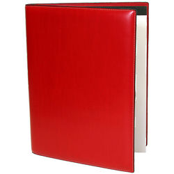 Audrey Leather Collection Red Letterpad Portfolio
