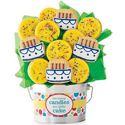 Too Many Candles Birthday Cookie Flower Pot