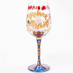 Lolita Redneck Birthday Wine Glass