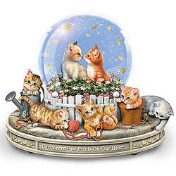 Kittens Rotating Musical Glitter Globe