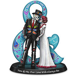 You & Me, Our Love Will Always Be Sugar Skull Figurine
