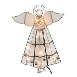 Lighted Capiz Angel Christmas Tree Topper