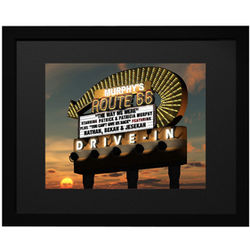 Personalized Route 66 Drive In Framed Print