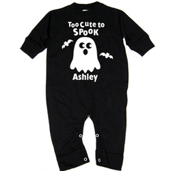 Personalized Too Cute to Spook T-Romper