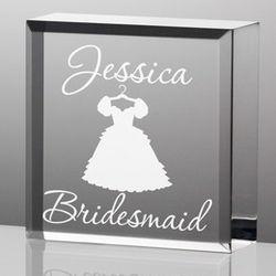 Personalized Bridesmaid Plaque