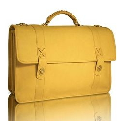 Triple Gusset Baseball Glove Leather Briefcase
