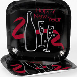Happy New Year Dessert Plates
