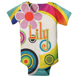 Personalized Mod Circles Infant Snapsuit T-Shirt