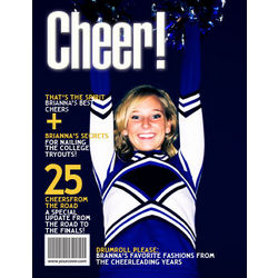 Cheerleading Personalized Magazine Cover Digital Print