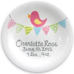Personalized Pink Tiny Tweet Plate