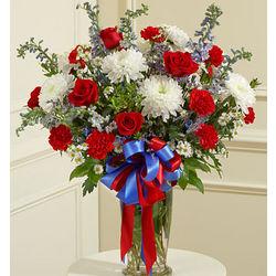 Beautiful Blessings Patriotic Funeral Flowers