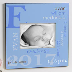 Baby Boy Personalized 5x7 Picture Frame