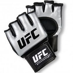 UFC Ultimate Silver and Black Athletic Glove