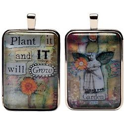 Plant It and It Will Grow Fairies Word Charm Necklace