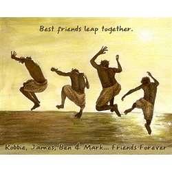 Friends Leap Together Personalized Print