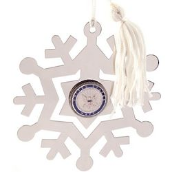 Engravable US Navy Emblem Snowflake Ornament