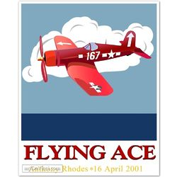 167 Red Plane Personalized Print