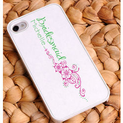 Personalized Preppy Breeze Bridesmaid iPhone Case