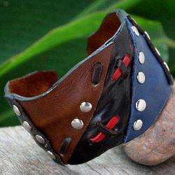 Seafarer Leather Cuff Bracelet