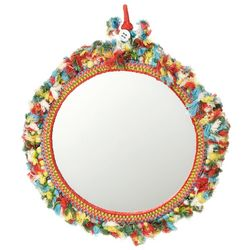 Handcrafted Embroidered Threadwork Mirror