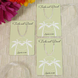Tropical Wedding Personalized Bookmark Favor