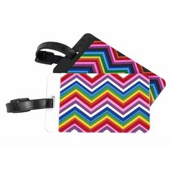 2 Zig Zag Pattern Luggage Tags