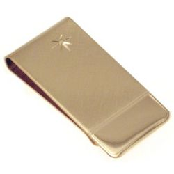 Personalized Star Brushed Money Clip