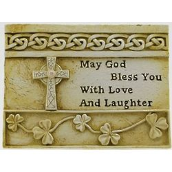 May God Bless You Stone-Look Plaque