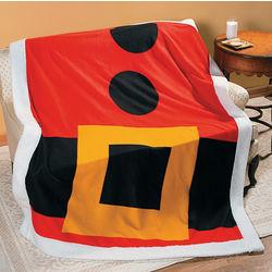 Santa Jacket Fleece Throw Blanket