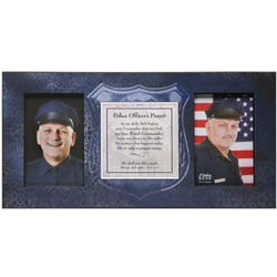 My Hero Police Officer Prayer Frame