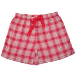 Women's Pink Flannel Sleep Shorts