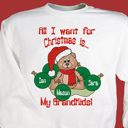 All I Want Christmas Personalized Sweatshirt