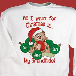 All I Want Christmas Personalized Sweatshirt