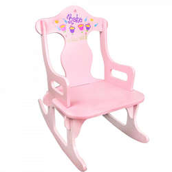 Girl's Personalized Pink Puzzler Rocking Chair
